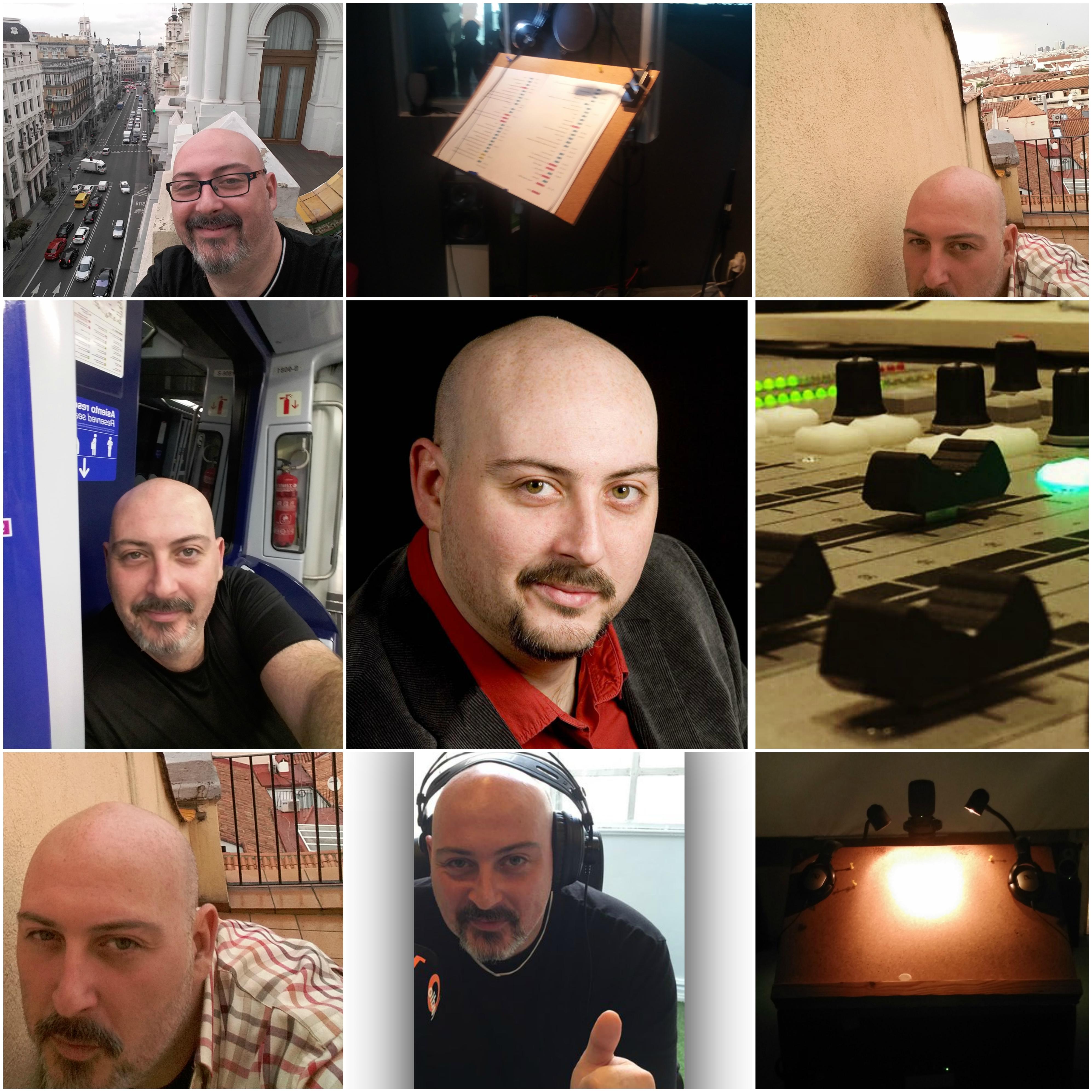 Carlos Moreno Minguito collage fotos de la profesión
